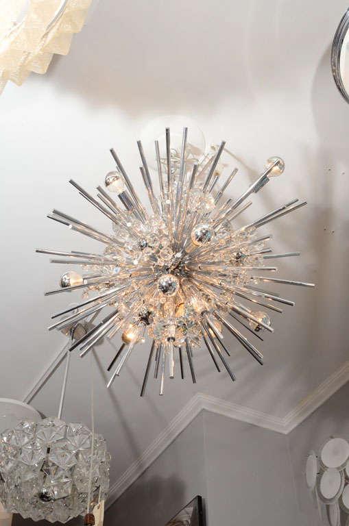 Custom crystal Sputnik with nickel telescopes.
