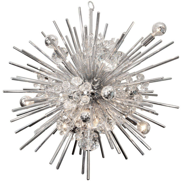 Custom Crystal Sputnik with Nickel Telescopes For Sale