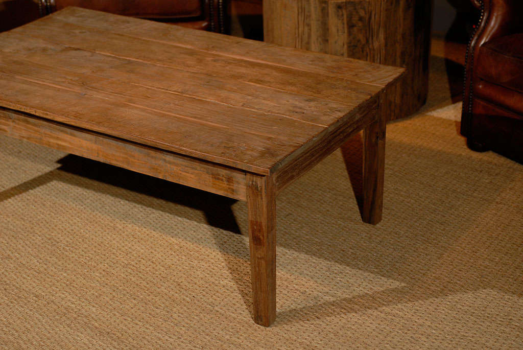 French Farm Coffee Table in reclaimed finish at 1stdibs