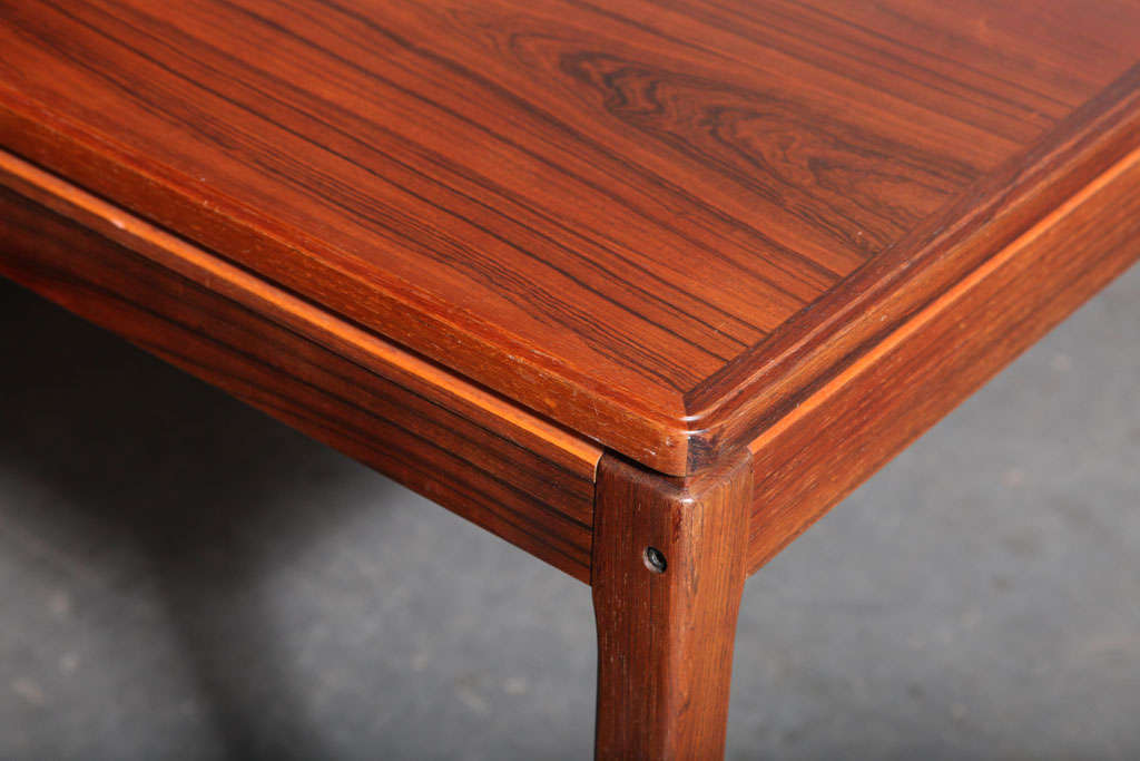 Rectangular Rosewood Dining Table With Self Stored Leaves