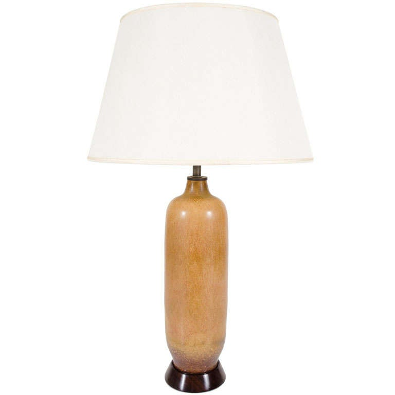 Hares Fur Glazed Table Lamp by Gunnar Nyland for Rorstrand