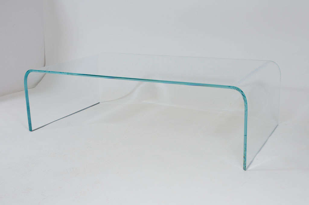 Glass Waterfall Cocktail Table by Angelo Cortesi for Fiam Italia