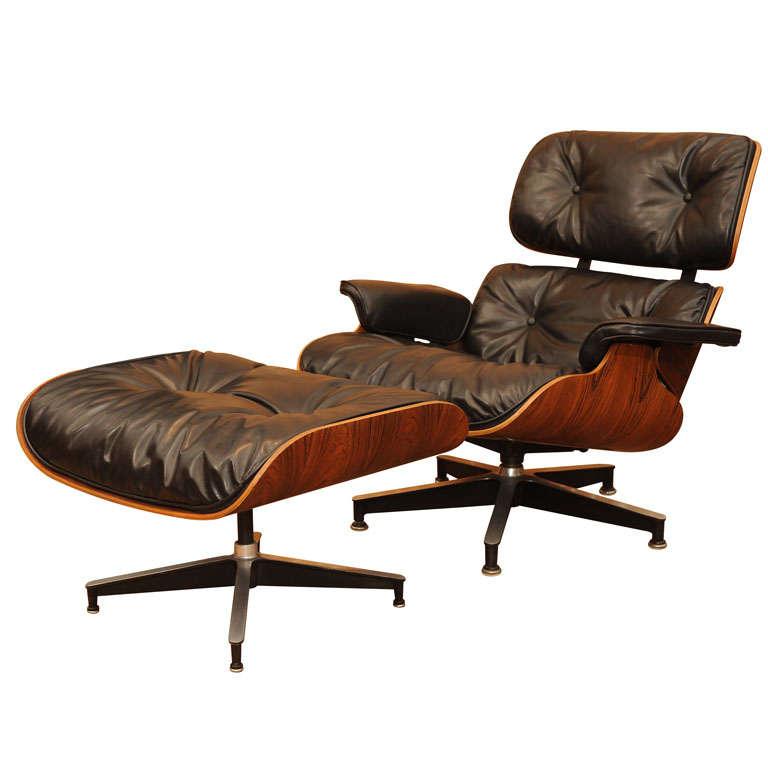 Original eames lounge chair and ottoman at 1stdibs for Eames lounge chair nachbau