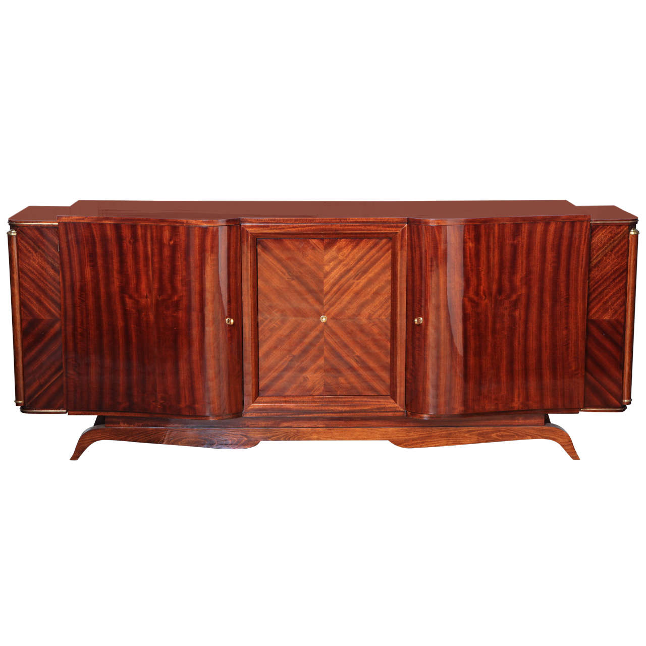 Unique Design Art Deco Sideboard or Bar For Sale