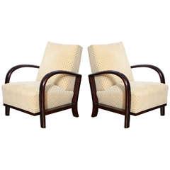 Elegant Pair of Art Deco Armchairs