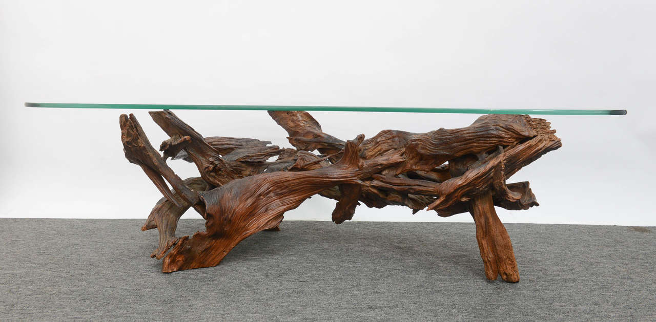 Vintage Wine Tree Coffee Table At