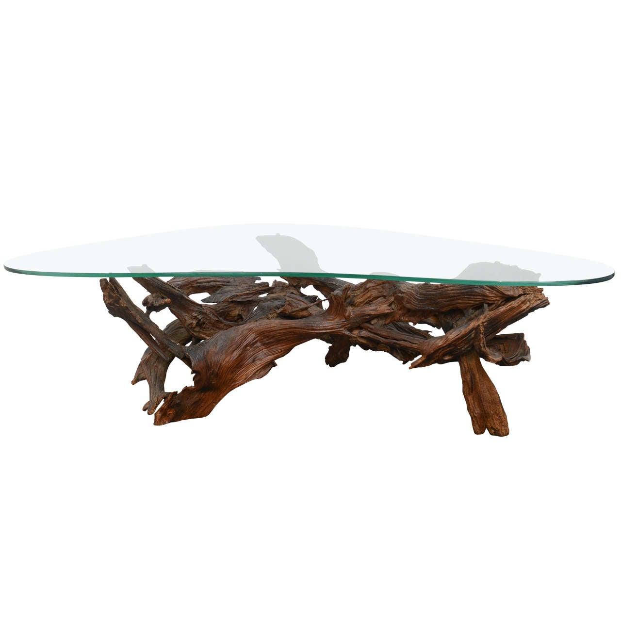 vintage wine tree coffee table at 1stdibs