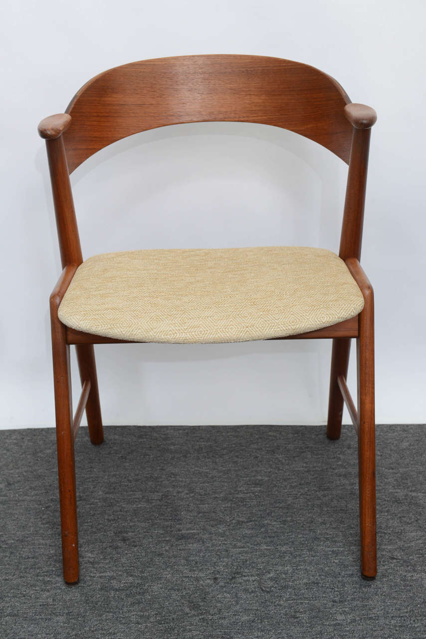Danish Teak Dining Chairs Designed By Kai Kristiansen At 1stdibs