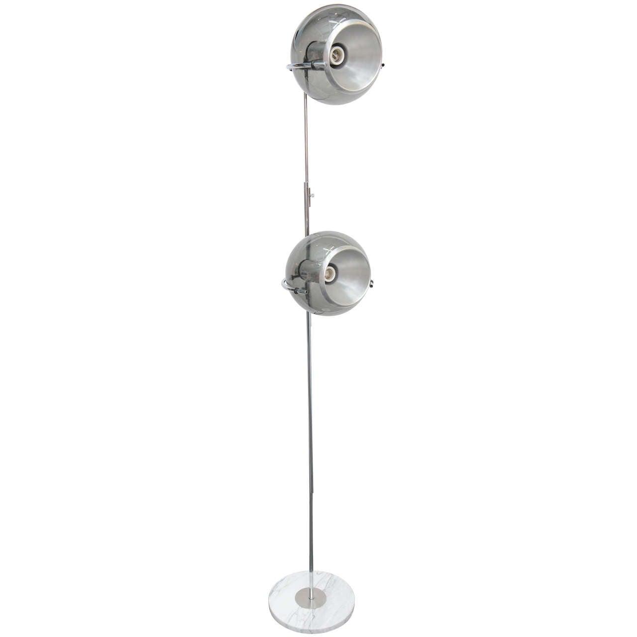1960 Sphere Glass And Aluminium Floor Lamp At 1stdibs