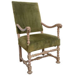 19th Century French Louis XIII Style Armchair