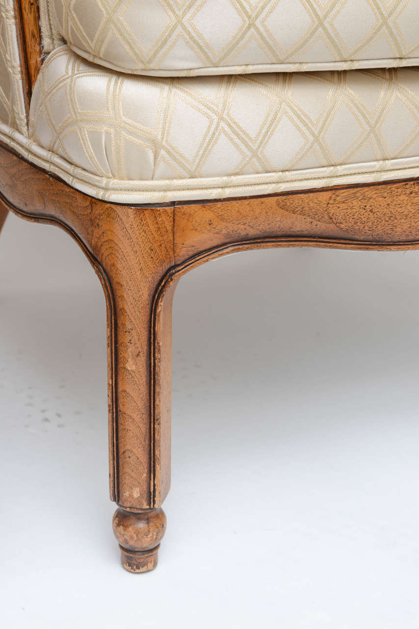Grosfeld Style High Back Wing Tip Club Chairs In Good Condition For Sale In North Miami, FL