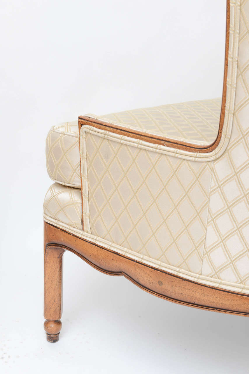 Grosfeld Style High Back Wing Tip Club Chairs For Sale 3