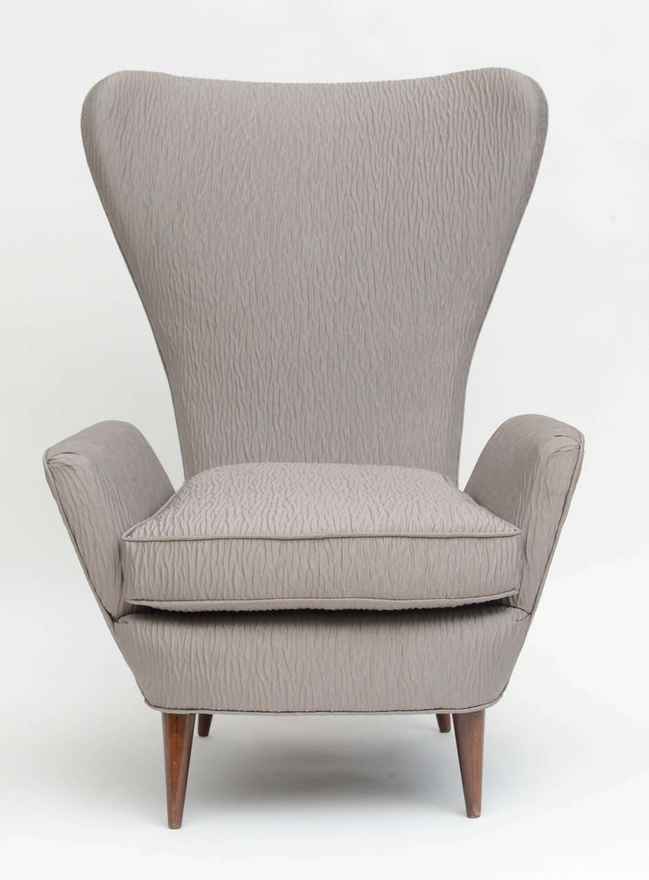 Italian Modern High Back Armchair Italy At 1stdibs