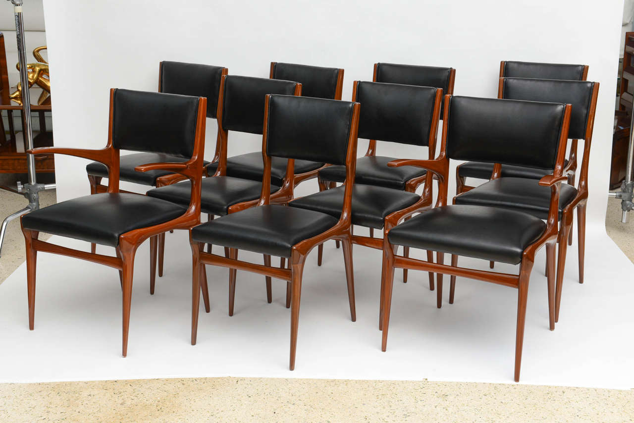 Made for Cassina in 1953, set of 12, two arms and ten sides.