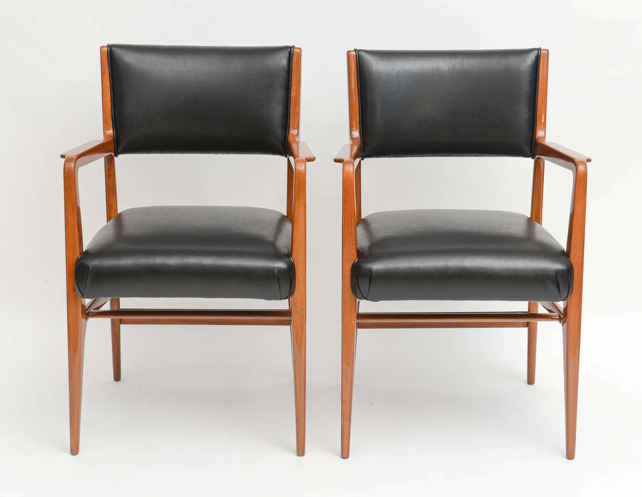 Mid-Century Modern Fine Set of 12 Italian Modern Dining Chairs, Gio Ponti For Sale