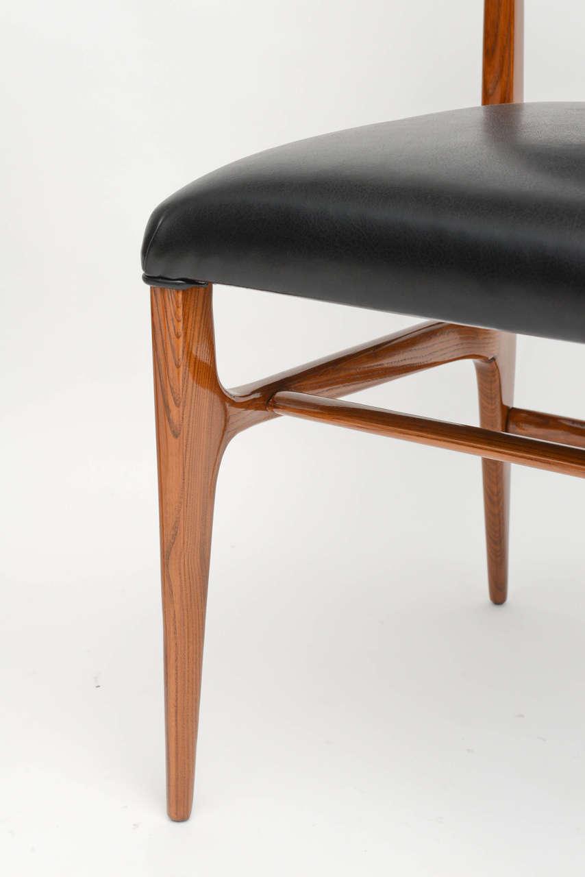 Mahogany Fine Set of 12 Italian Modern Dining Chairs, Gio Ponti For Sale