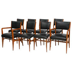 Fine Set of 12 Italian Modern Dining Chairs, Gio Ponti
