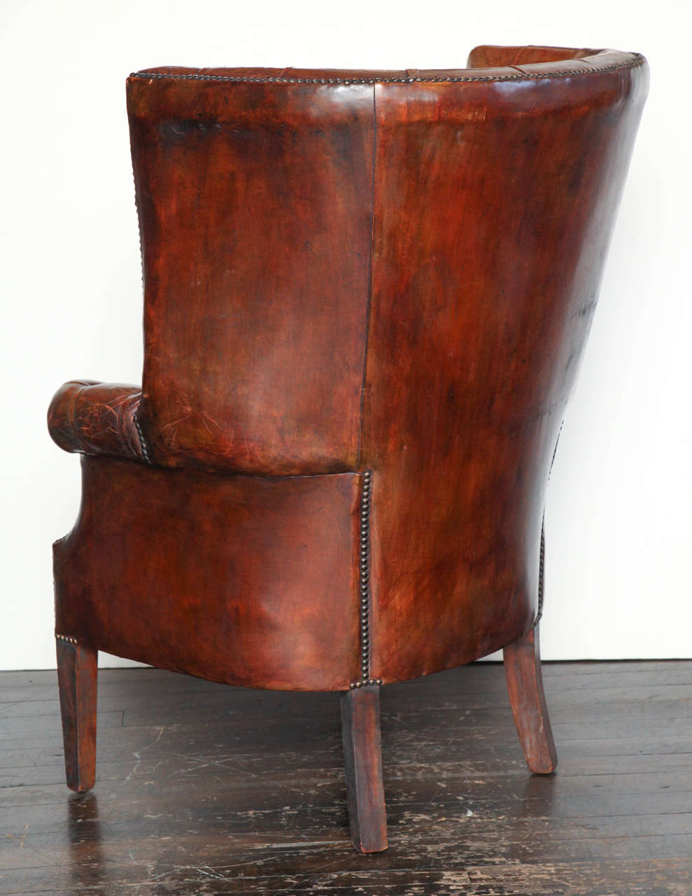 Magnificent Georgian Style Leather Library Chair At 1Stdibs Spiritservingveterans Wood Chair Design Ideas Spiritservingveteransorg
