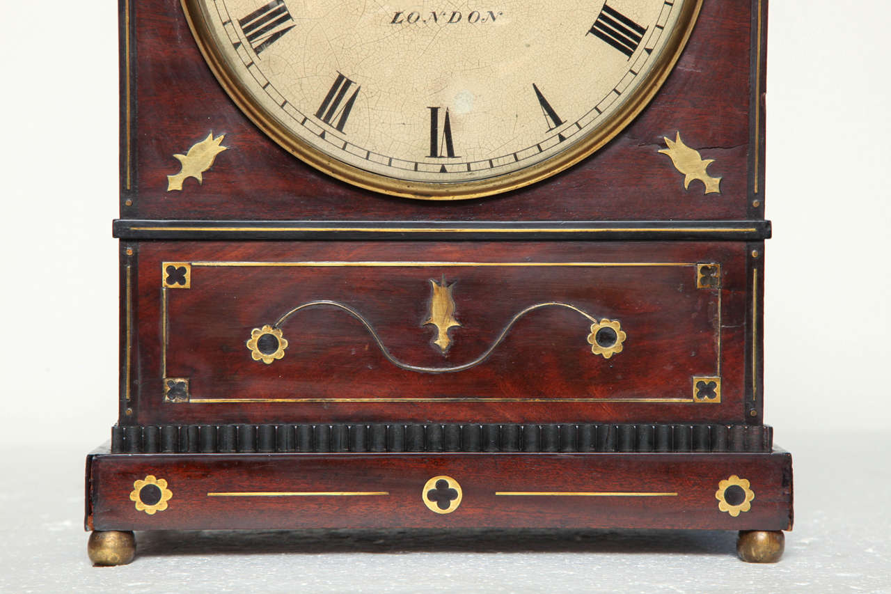 19th Century English Regency Bracket Clock In Good Condition For Sale In New York, NY