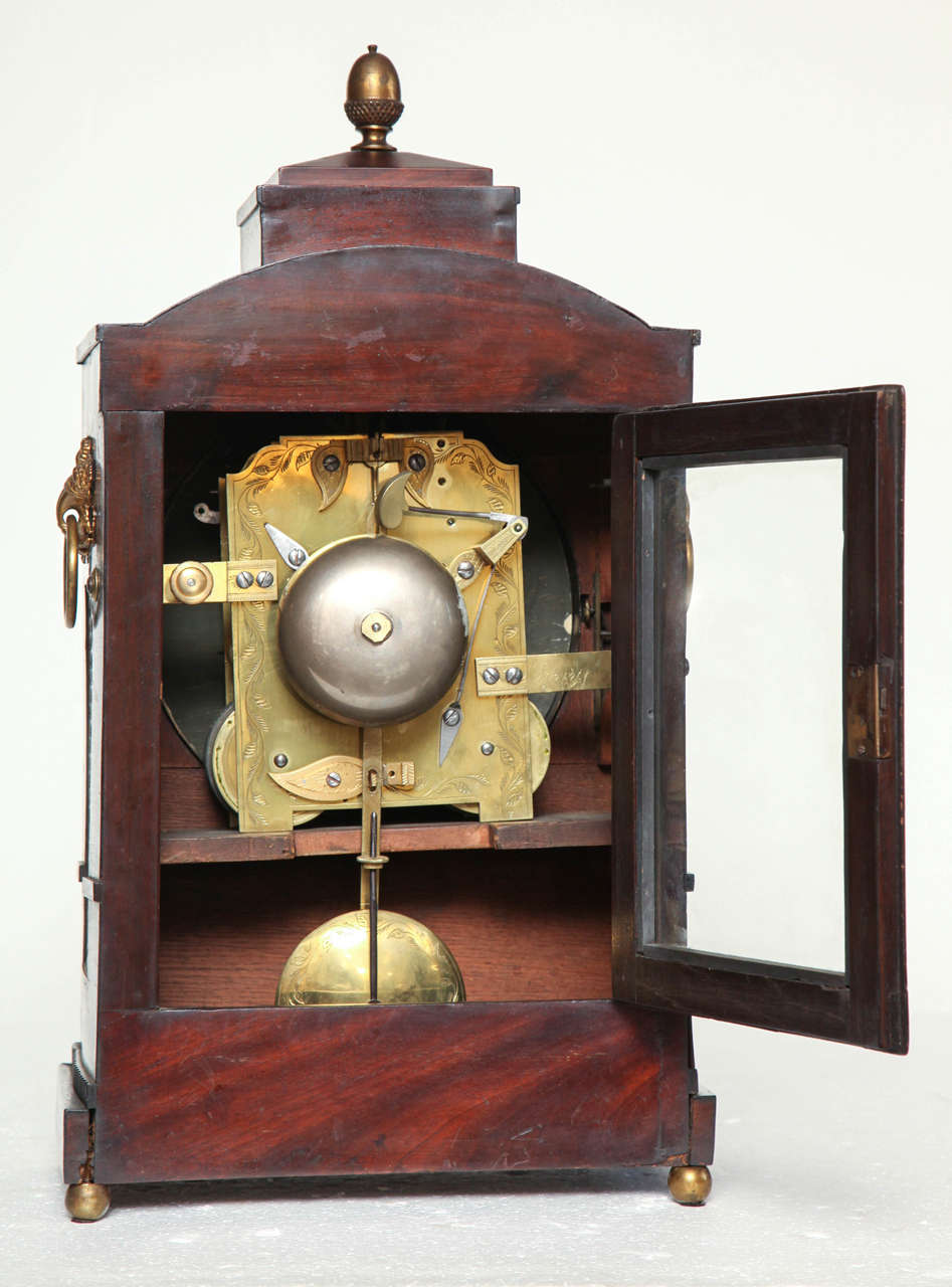 19th Century English Regency Bracket Clock For Sale 4