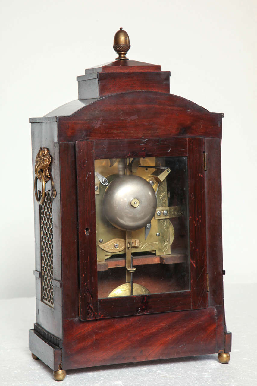 19th Century English Regency Bracket Clock For Sale 6