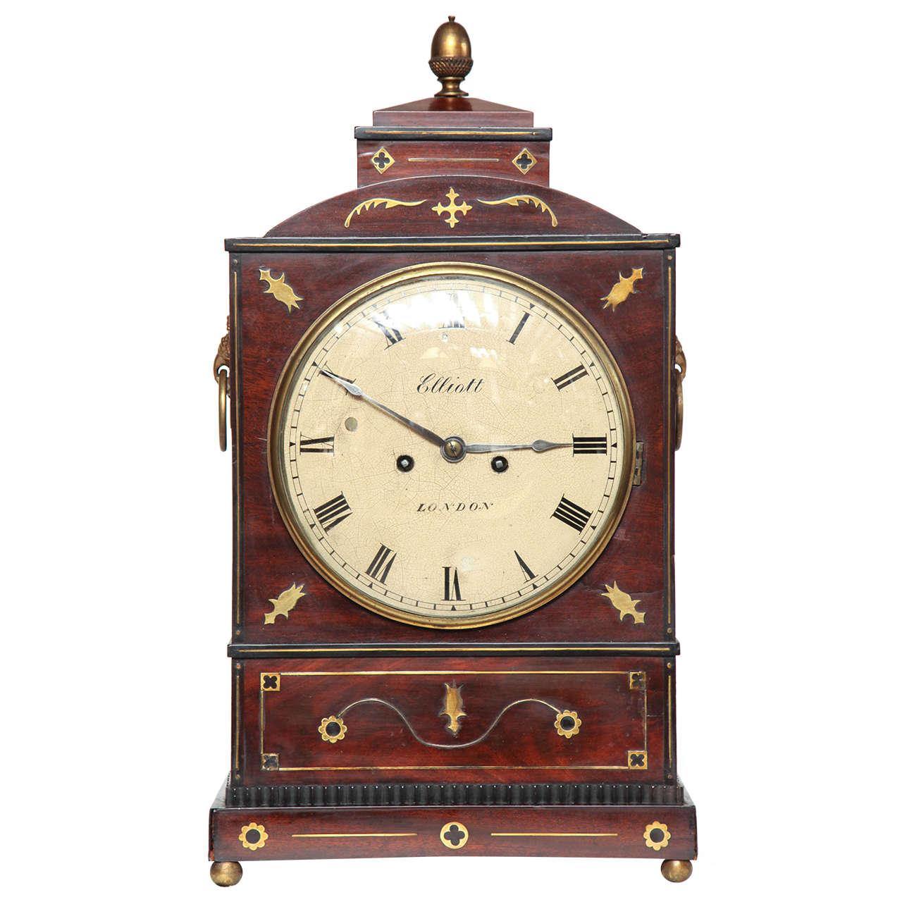 19th Century English Regency Bracket Clock For Sale