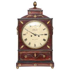 19th Century English Regency Bracket Clock