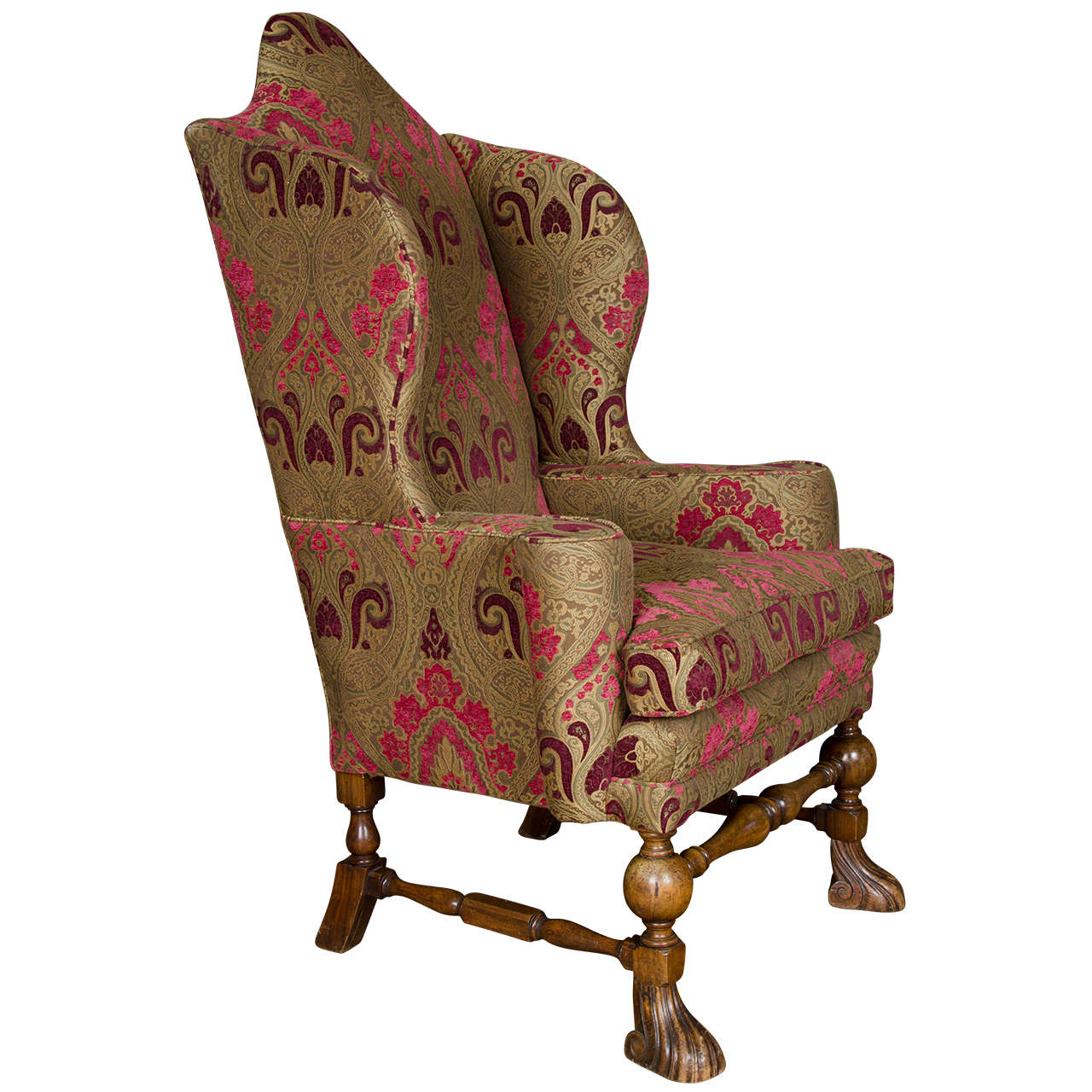 Antique William And Mary Wingback Armchair At 1stdibs