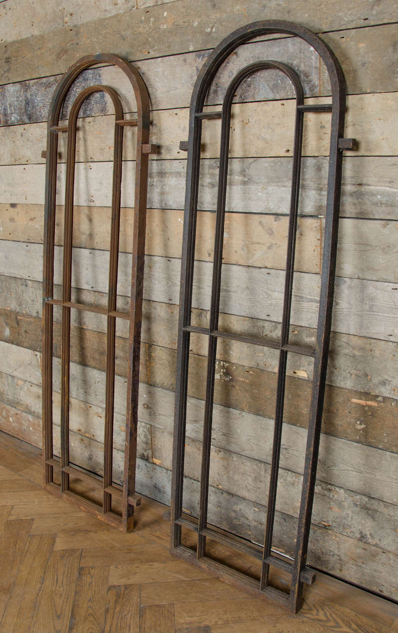 Antique Victorian Arched Cast Iron Window Frames At 1stdibs
