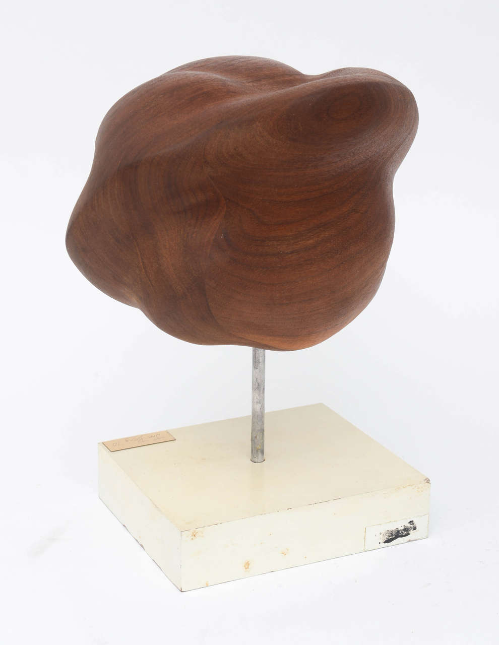 Mid century modern walnut sculpture by artist jon bery for for Modern decorative objects