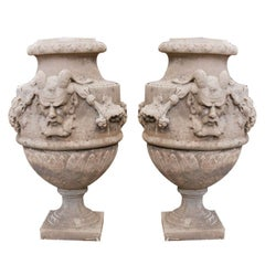 Pair of Cement Urns