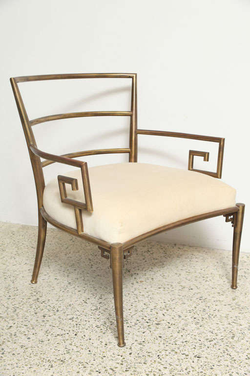 Weiman Warren Lloyd Brass Lounge Chairs image 4