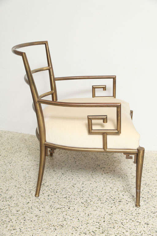 Weiman Warren Lloyd Brass Lounge Chairs image 5