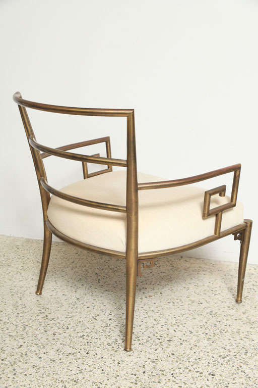 Weiman Warren Lloyd Brass Lounge Chairs image 6