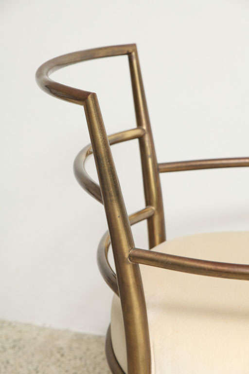 Weiman Warren Lloyd Brass Lounge Chairs 10