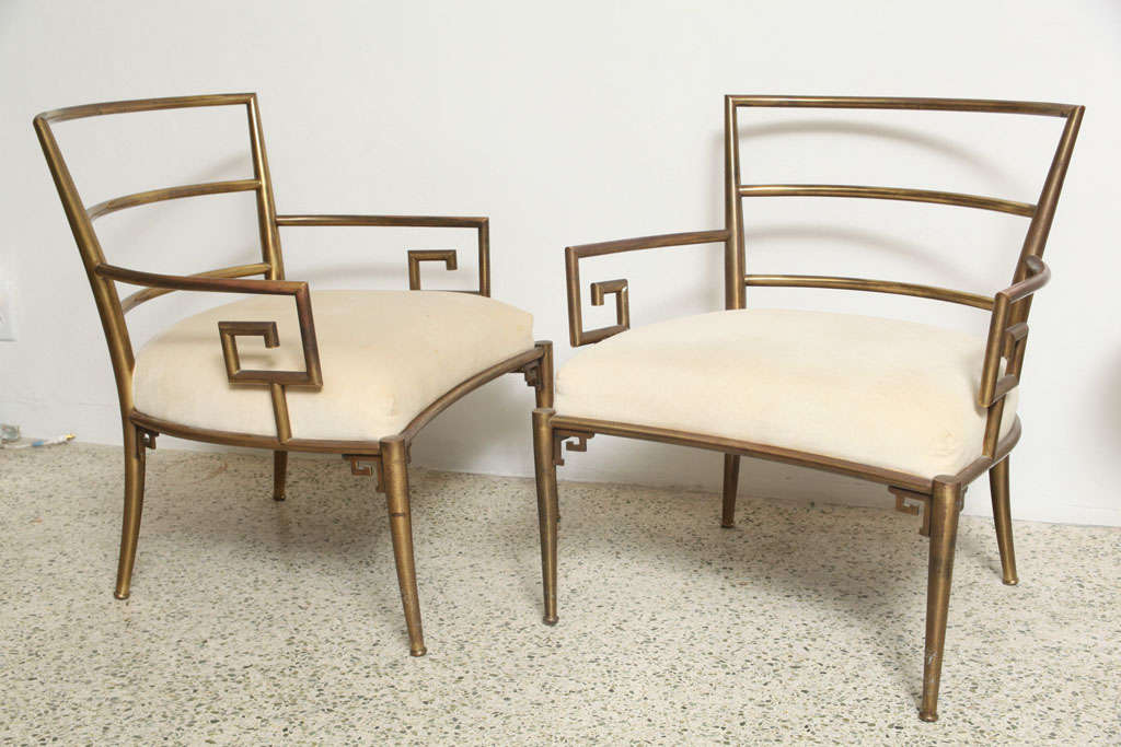 Weiman Warren Lloyd Brass Lounge Chairs 2