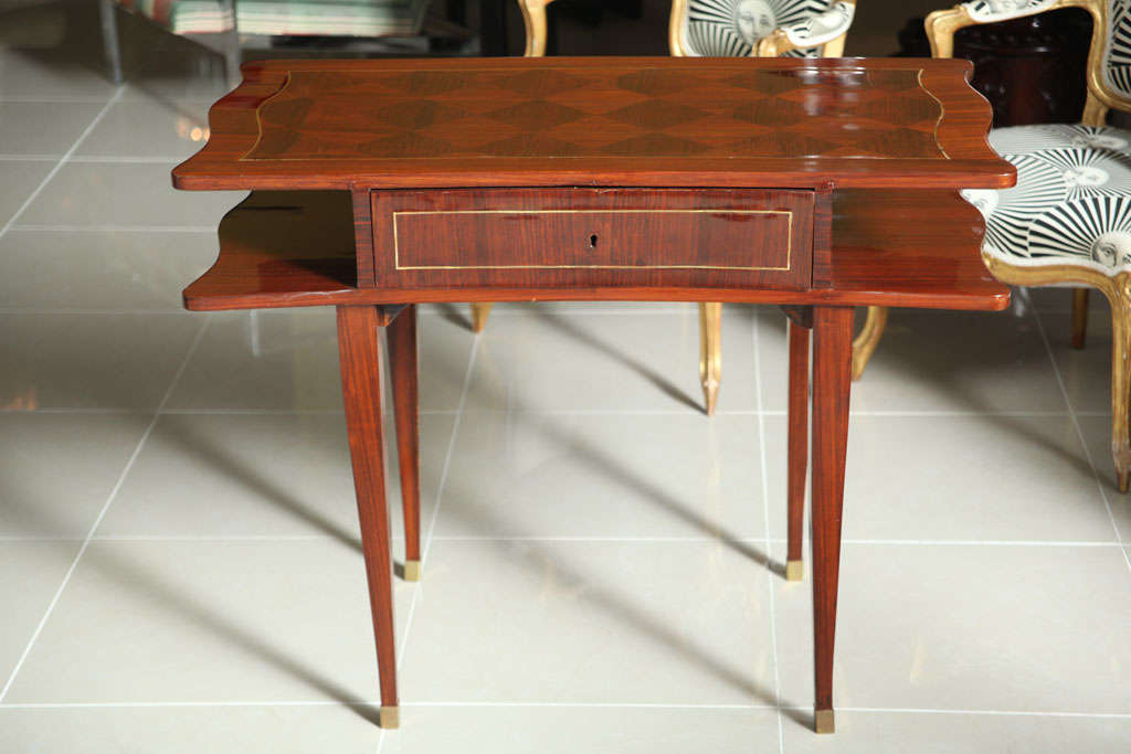 French Art Deco Mahogany Writing Table In Excellent Condition For Sale In Miami, FL