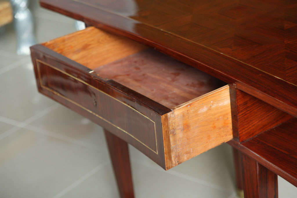 Mid-20th Century French Art Deco Mahogany Writing Table For Sale