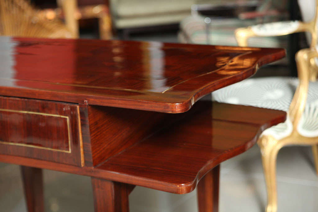 French Art Deco Mahogany Writing Table For Sale 1