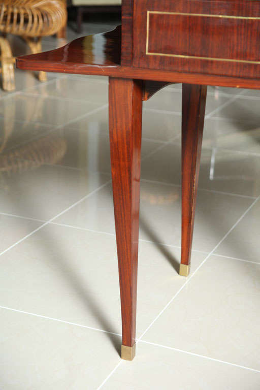 French Art Deco Mahogany Writing Table For Sale 2