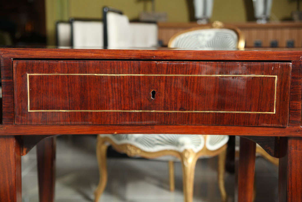 French Art Deco Mahogany Writing Table For Sale 3