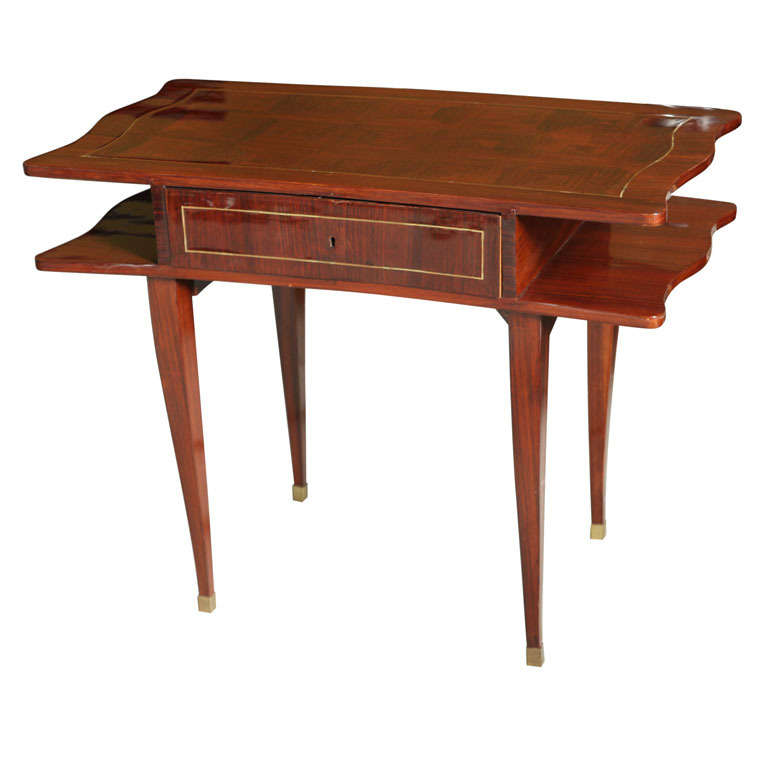 French Art Deco Mahogany Writing Table