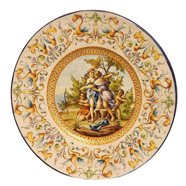 Italian Faience Charger 19th Century