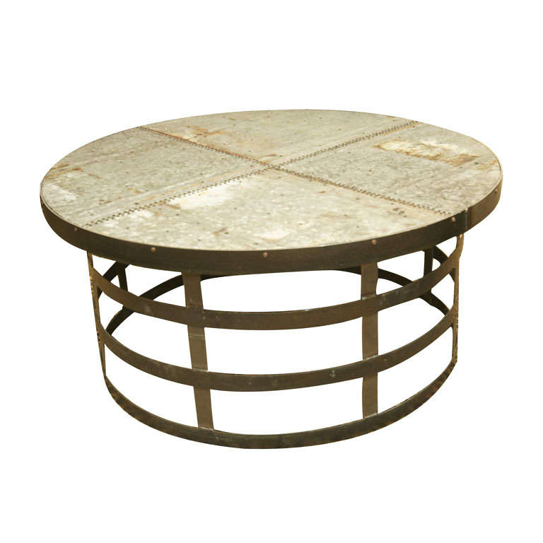 Round Metal Base Coffee Table At 1stdibs
