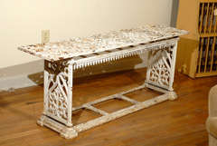 French Cast Iron Bench c.1900 image 2