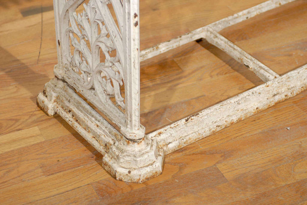 French Cast Iron Bench c.1900 For Sale 2