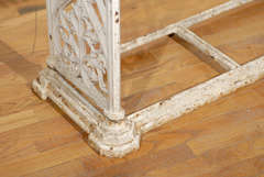 French Cast Iron Bench c.1900 image 5