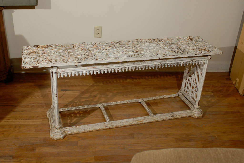 French Cast Iron Bench c.1900 For Sale 3