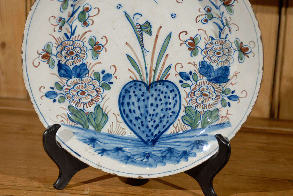 18th Century Delft Charger At 1stdibs
