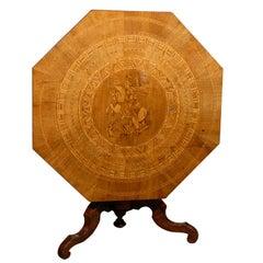 19th Century Octagonal Italian Sorrento Table